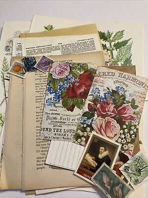 Scrapbook Accessories, Vintage Rose Junk Journal Kit, Card Clearout Kit • 0.99£