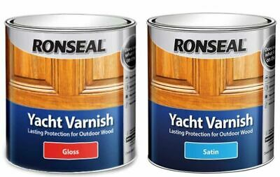 Ronseal Yacht Varnish  Exterior Long Lasting - ALL SIZES • 12.67£