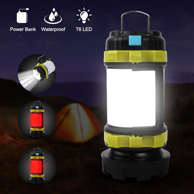 USB Rechargeable Camping Lights LED Tent Lantern Outdoor Awning Hanging Torch Uk • 9.99£