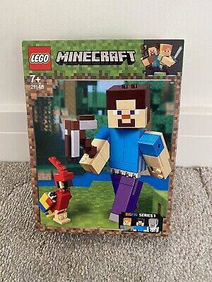 New LEGO Minecraft 21148 Steve Big Fig With Parrot Retired Brick Set  Age 7+  • 15£