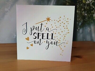 Wittery Halloween Gold I Put A Spell On You Hocus Pocus Greetings Card Stars • 2.45£