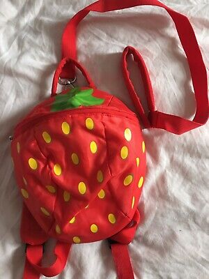 Baby Toddler Safety Harness Backpack Walking Reins Boys Girls Strawberry  • 1.50£