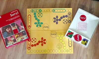 Vintage Sorry Family Board Game Waddingtons Retro Christmas Gaming Complete  • 12.50£