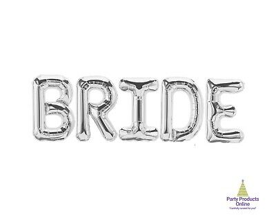 BRIDE Letter Balloon Banner - Gold, Rose Gold And Silver Wedding Decorations • 10.12£