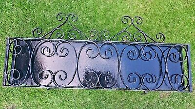 Old Reclaimed METAL WROUGHT IRON WINDOW BOX PLANT POT HOLDER INSERT Salvage • 109£