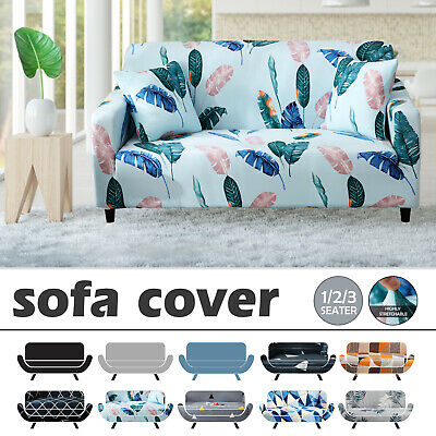 AU24.99 • Buy Sofa Covers 1/2/3 Seater Slipcover Lounge Stretch Washable Couch Chair Protector