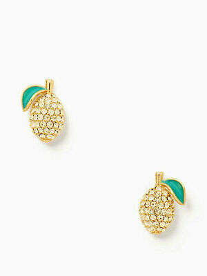 $ CDN21.04 • Buy Kate Spade PICNIC PERFECT  LEMON Stud Earrings BRAND NEW Includes Jewelry Bag