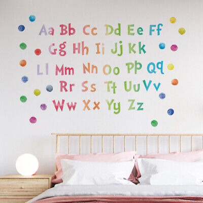 A-Z Alphabet Kids Children's Wall Stickers For Home Nursery Decorations • 4.57£