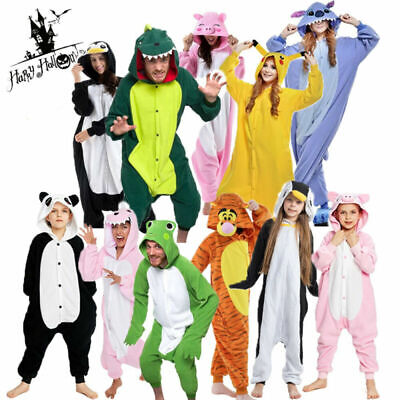 Unisex Adult And Kinds Costume Fancy Dress Cosplay Onsie1 Hooded Animal Pajamas • 12.49£