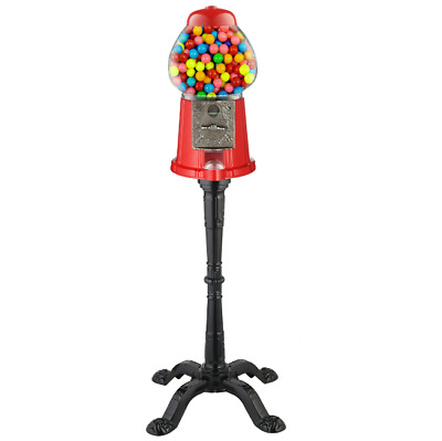 Candy Gumball Machine Bank With Metal Base Stand Vintage Coin Sweets Dispenser • 50.64£
