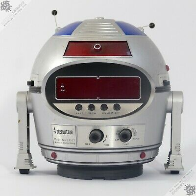 Steepletone Horikawa Robot Radio Ex-21 Alarm Clock Hong Kong Vintage Space Toy • 1.04£