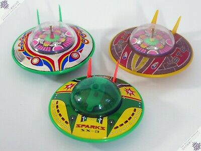 Masudya Horikawa Flying Saucer Ufo Lot Rocket Japan Tin Vintage Robot Space Toy • 10.50£