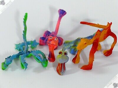 Space Alien Bendy Lot B Jigglers Hong Kong Rubber Monsters Robot Vintage Toy • 0.99£