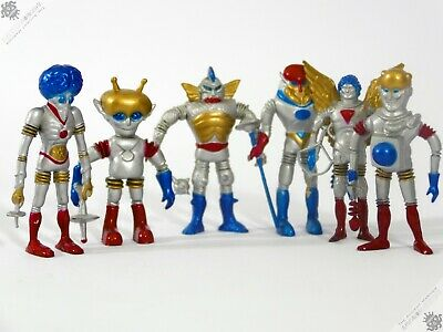Colorforms Marx Outer Space Men Bendy Robot Alien Figures Lot Hong Kong Toy • 2.20£