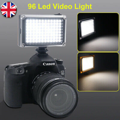 96 LED Video Light Lamp Lighting Hot Shoe For Canon Nikon DSLR Camera Camcorder • 12.89£