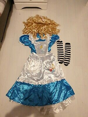 Alice In Wonderland Girls Dressing Up Costume And Wig • 5£
