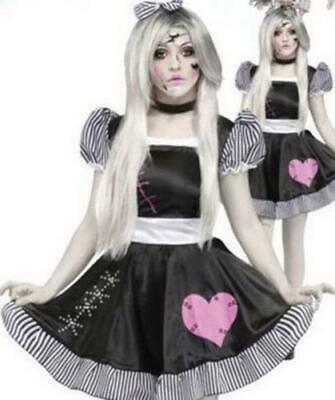 Halloween Broken Rag Doll Fancy Dress Costume Zombie Ghost Womens Cosplay Outfit • 9.99£