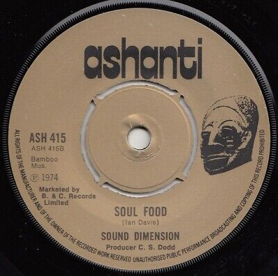 Sound Dimension  Soul Food  Uk Orig  Studio One Fatty Fatty Horns Cut!!  • 8.50£