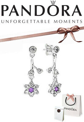 Pandora Forget Me Not Drop Earrings Silver + Box And Bag • 39.99£