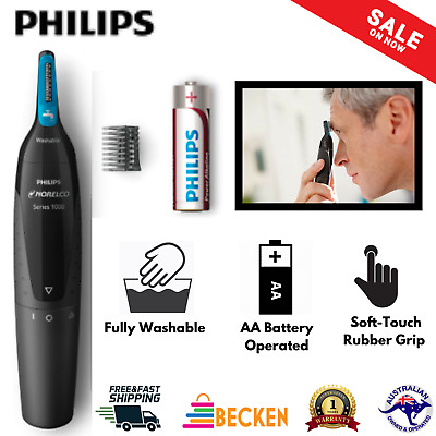 AU48.01 • Buy PHILIPS Nose Ear Eyebrow Hair Trimmer Mens Shaver Clipper Cordless Grooming NEW