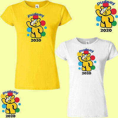 £8.99 • Buy Pudsey Bear 2020 Ladies T-Shirt Children In Need Spotty Gift Charity Top Tshirt