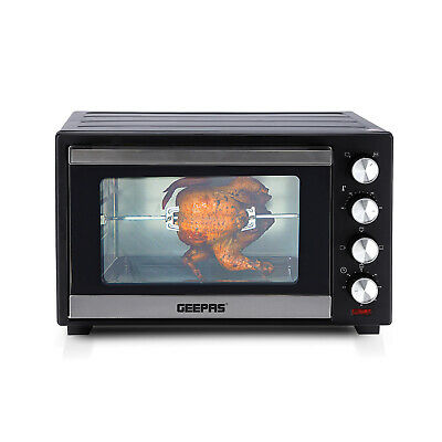 Geepas 38L Electric Mini Oven Grill Rotisserie Countertop Compact Cooker 1600W  • 79.99£