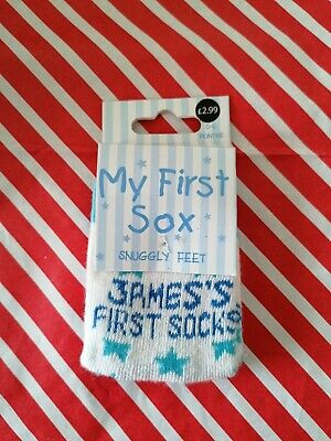Baby Boy - My First Sox - James First Sock's Sticthed On 0-6 Months BNIP • 0.10£