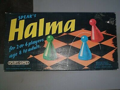 Halma Board Game Spears Games Vintage • 8£