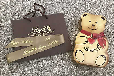 Lindt Gold Bear Milk Chocolate, Sweets, Candy Collectors Tin (Empty) Holds 800g • 9.99£
