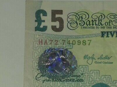 BANK OF ENGLAND PAPER £5 / FIVE POUND NOTE Collectors Item Recalled By Bank Of E • 3.85£