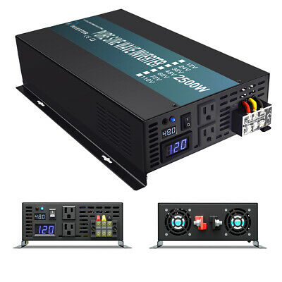 $ CDN302.30 • Buy 2500W Pure Sine Wave Inverter 48V DC To AC Power Converter Car Battery Truck RV