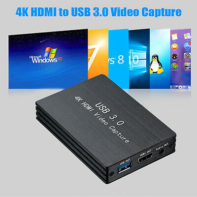 HDMI Video Capture Card 4K USB 3.0 For Video Recorder OBS Game Live Stream • 46.69£