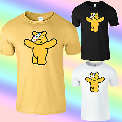 £9.99 • Buy Welcome Spotty Pudsey Bear Mens T-Shirt Children In Need Dotty Spot Top Shirt