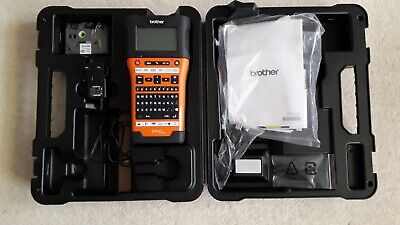 BROTHER P-TOUCH E550w HANDHELD ELECTRICIANS LABEL PRINTER • 80£