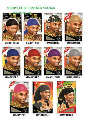 Murry Collection Men's Silky Satin Delux Durag -m4811-all Colours-free Uk Post!! • 3.45£