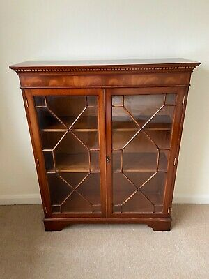 Mahogany Glass Display Cabinet, Used But Excellent Condition • 20£