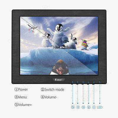 Eyoyo 10  Monitor TFT-LCD HDMI/BNC/VGA/AV DC 12V Speakers For CCTV DVD 350cd/m² • 67.19£