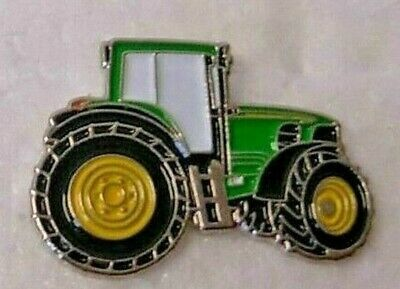 Tractor Pin Badge. Green Version. John Deere Metal. Enamel. Farmer. Farming • 1.50£