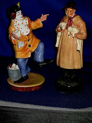 ROYAL DOULTON FIGURINES THE CLOWN And LAMBING TIME • 34.50£