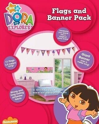 Dora The Explorer Flags And Banner Pack. New And Sealed FREE SHIPPING • 10.89£