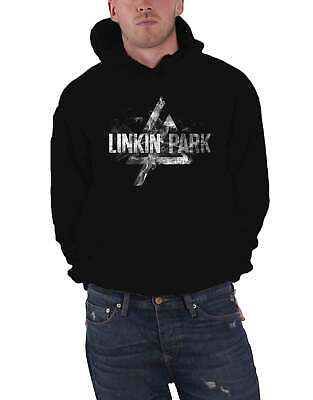 Linkin Park Hoodie Smoke Band Logo New Official Mens Black Pullover M • 42.95£