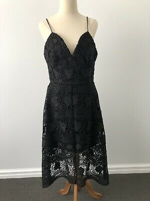 AU29.99 • Buy Forever New Black Veronica Lace Dress Size 10