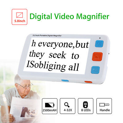 5 Inch LCD Adjustable Electronic Digital Video Magnifier 4-32X Reading Zoom Rate • 93.77£