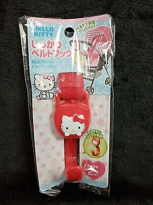 £11.24 • Buy Hello Kitty Belt Hook For Stroller Push Chair Red Made In Japan 2 KG Capacity
