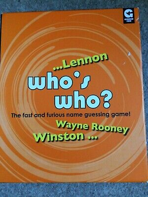 Who's Who? - The Fast And Furious Name Guessing Game!  Unplayed,cards Sealed • 2.99£