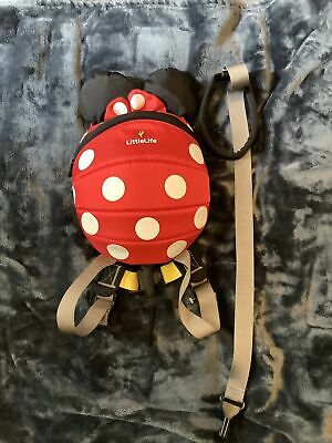 LittleLife Disney Minnie Mouse Toddler Backpack With Rein • 5£