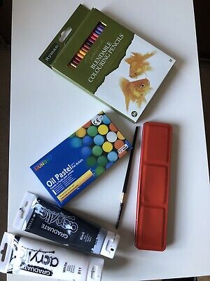Art Set- Water Colours, Acrylic, Oil Pastel And Colouring Pencils • 15£