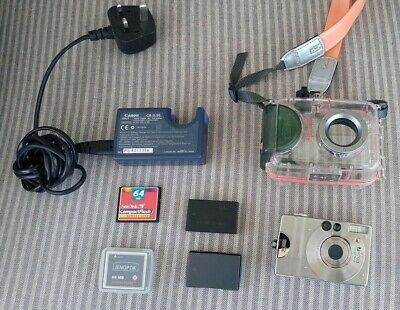 Canon Underwater/snorkelling Camera Kit - Aw-ps200 Case, Ixus V, Cb-2lse Charger • 5£