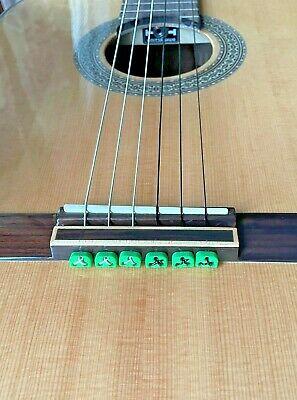 $ CDN15.60 • Buy Classical Flamenco Acoustic Nylon String Guitar Ukulele Beads Ties Blocks GREEN