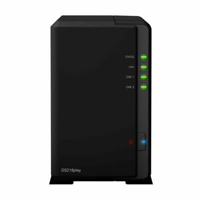 Synology DiskStation DS218play 2-Bay NAS Desktop + 2 X 4TB Seagate Hard Drives • 100£